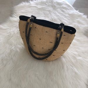 Handbags - Gorgeous Straw Purse w/ Beaded Strap